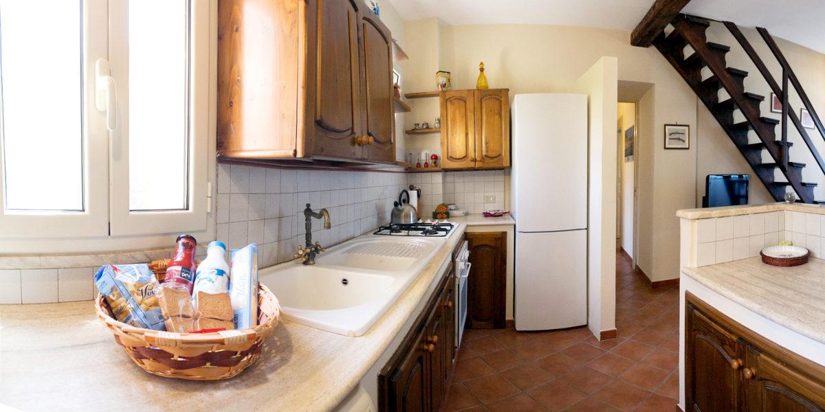 cucina casa lavatoio al mare
