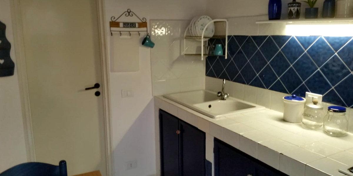 angolo cucina con terrazza